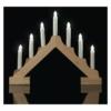 Kép 5/7 - EMOS LED gyertyatartó, fa, 29 cm, 2x AA, beltéri, meleg fehér, időzítő