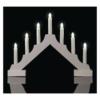 Kép 5/7 - EMOS LED gyertyatartó, fa, fehér, 29 cm, 2x AA, beltéri, meleg fehér, időzítő