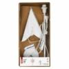 Kép 4/6 - EMOS Gyertyatartó E14, papírcsillaggal, fehér, 67x45 cm, beltéri