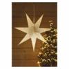 Kép 3/4 - EMOS LED papírcsillag E14, függeszthető, arany csillámporos középen, 60 cm
