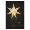 Kép 6/6 - EMOS LED papírcsillag E14, aranyszínű talppal, 45 cm, beltéri