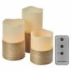 Kép 1/6 - EMOS LED dekoráció 3 db viaszgyertya zsinórral, 3x3 AAA, beltéri, vintage, távirányító