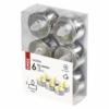 Kép 4/5 - EMOS LED dekoráció 6x teamécses, ezüst, 6x CR2032, beltéri, vintage