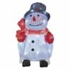 Kép 1/7 - EMOS LED karácsonyi hóember, 28 cm, kültéri és beltéri, hideg fehér, időzítő, IP44