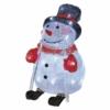 Kép 2/7 - EMOS LED karácsonyi hóember, 28 cm, kültéri és beltéri, hideg fehér, időzítő, IP44