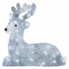 Kép 1/8 - EMOS LED karácsonyi szarvas, 27 cm, kültéri és beltéri, hideg fehér, időzítő, IP44