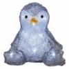 Kép 1/7 - EMOS LED karácsonyi pingvin, 20 cm, 3x AA, beltéri, hideg fehér, időzítő