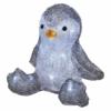 Kép 2/7 - EMOS LED karácsonyi pingvin, 20 cm, 3x AA, beltéri, hideg fehér, időzítő