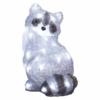 Kép 1/7 - EMOS LED dekoráció világító mosómedve, 28 cm, hideg fehér, időzítő, IP44