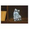 Kép 6/7 - EMOS LED dekoráció világító mosómedve, 28 cm, hideg fehér, időzítő, IP44