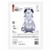Kép 4/7 - EMOS LED dekoráció világító mosómedve, 39 cm, hideg fehér, időzítő, IP44