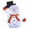 Kép 1/7 - EMOS LED karácsonyi hóember kalappal, 36 cm, hideg fehér, időzítő, IP44