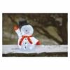 Kép 6/7 - EMOS LED karácsonyi hóember kalappal, 36 cm, hideg fehér, időzítő, IP44