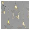 Kép 1/8 - EMOS LED karácsonyi fényfüggöny csillagok, 45x84 cm, meleg fehér, IP44