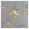 Kép 1/7 - EMOS LED karácsonyi fényfüggöny hópelyhek, 45x84 cm, meleg fehér, időzítő IP44