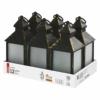 Kép 1/5 - EMOS LED dekoráció 6 db lámpa, opál, fekete, 6x3 AAA, beltéri, vintage, időzítő