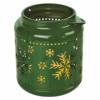 Kép 2/6 - EMOS LED dekoráció lámpa hópelyhekkel, fém, zöld, 14 cm, 3x AAA, beltéri, vintage