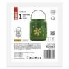 Kép 3/6 - EMOS LED dekoráció lámpa hópelyhekkel, fém, zöld, 14 cm, 3x AAA, beltéri, vintage