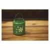 Kép 5/6 - EMOS LED dekoráció lámpa hópelyhekkel, fém, zöld, 14 cm, 3x AAA, beltéri, vintage