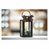 Kép 5/6 - EMOS LED dekoráció karácsonyi lámpa gyertyával, fekete, 22 cm, 3x AAA, beltéri, vintage