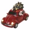 Kép 2/7 - EMOS LED piros autó Télapóval, 12.5 cm, 3x AA, beltérre, meleg fehér