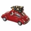Kép 5/7 - EMOS LED piros autó Télapóval, 12.5 cm, 3x AA, beltérre, meleg fehér