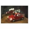 Kép 6/7 - EMOS LED piros autó Télapóval, 12.5 cm, 3x AA, beltérre, meleg fehér