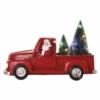Kép 1/7 - EMOS LED dekoráció Télapó autóban karácsonyfákkal, 10 cm, 3x AA, beltéri, többszínű