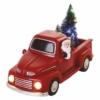 Kép 2/7 - EMOS LED dekoráció Télapó autóban karácsonyfákkal, 10 cm, 3x AA, beltéri, többszínű