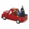 Kép 5/7 - EMOS LED dekoráció Télapó autóban karácsonyfákkal, 10 cm, 3x AA, beltéri, többszínű