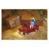 Kép 6/7 - EMOS LED dekoráció Télapó autóban karácsonyfákkal, 10 cm, 3x AA, beltéri, többszínű