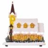 Kép 2/8 - EMOS LED karácsonyi havas templom, 26 cm, 3x AA, beltérre, meleg fehér