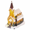 Kép 3/8 - EMOS LED karácsonyi havas templom, 26 cm, 3x AA, beltérre, meleg fehér