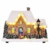 Kép 1/6 - EMOS LED karácsonyi házikó, 20.5 cm, 3x AA, beltérre, meleg fehér