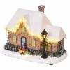 Kép 2/6 - EMOS LED karácsonyi házikó, 20.5 cm, 3x AA, beltérre, meleg fehér