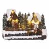 Kép 1/7 - EMOS LED karácsonyi falu, 15 cm, 3x AA, beltérre, meleg fehér
