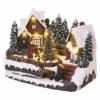 Kép 2/7 - EMOS LED karácsonyi falu, 15 cm, 3x AA, beltérre, meleg fehér