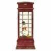 Kép 1/7 - EMOS LED dekoráció hóember telefonfülkében, 25 cm, 3x AA, beltéri, meleg fehér, időzítő