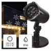 Kép 1/10 - EMOS LED karácsonyi dekoráció projektor hópelyhek, kültéri és beltéri, fehér, IP44