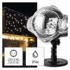 Kép 1/10 - EMOS LED dekoráció projektor hulló hópelyhek, kültéri és beltéri, fehér, IP44