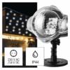 Kép 1/2 - EMOS LED dekoráció projektor csillagok, meleg/hideg fehér, IP44