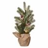Kép 1/5 - EMOS LED karácsonyfa, havas, 52 cm, 3x AA, beltéri, meleg fehér, időzítő