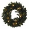 Kép 1/7 - EMOS LED karácsonyi koszorú, 40 cm, 2x AA, beltéri, meleg fehér, időzítő