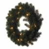 Kép 2/7 - EMOS LED karácsonyi koszorú, 40 cm, 2x AA, beltéri, meleg fehér, időzítő