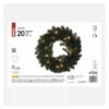 Kép 3/7 - EMOS LED karácsonyi koszorú, 40 cm, 2x AA, beltéri, meleg fehér, időzítő