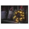 Kép 6/7 - EMOS LED karácsonyi koszorú, 40 cm, 2x AA, beltéri, meleg fehér, időzítő