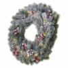 Kép 2/8 - EMOS LED karácsonyi koszorú, havas, 38 cm, 2x AA, beltéri, meleg fehér, időzítő