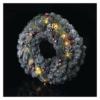 Kép 5/8 - EMOS LED karácsonyi koszorú, havas, 38 cm, 2x AA, beltéri, meleg fehér, időzítő