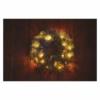 Kép 7/8 - EMOS LED karácsonyi koszorú, havas, 38 cm, 2x AA, beltéri, meleg fehér, időzítő