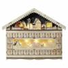 Kép 1/8 - EMOS LED adventi naptár, fa, 40x50 cm, 2x AA, beltéri, meleg fehér, időzítő